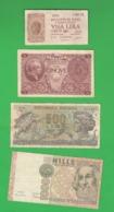 Italia 1 + 5 + 500 + 1000 Lire - [ 2] 1946-… : Républic