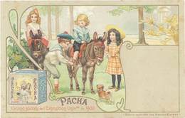B Biscuits Olibet, Pacha, Exposition Universelle 1900, ânes - Werbepostkarten