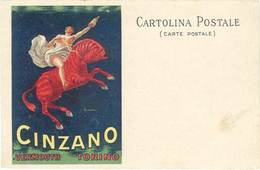 B Cinzano Vermouth, Torino – Signée Cappiello - Werbepostkarten