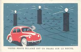 LD «Votre Poste éclairé Est Un Phare Sur La Route» - Werbepostkarten