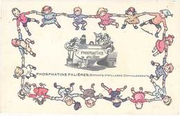 TB Phosphatine Falières, Enfants, Vieillards, Convalescents - Werbepostkarten