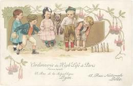 TB Cordonnerie De La High Life De Paris, Jeu De Quilles … - Werbepostkarten