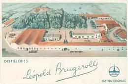 TB Distilleries Léopold Brugerolle, Matha / Cognac - Werbepostkarten