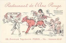 TB Restaurant De L'Ane Rouge, Choulot Propriétaire, Paris - Werbepostkarten