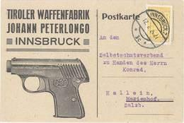 TB Tiroler Waffenfabrik Johann Peterlongo, Innsbruck - Werbepostkarten