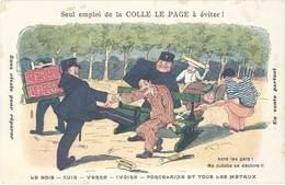 B Colle Le Page, Signée Lupino - Glue - Werbepostkarten