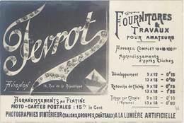 TB Fevrot, Fournitures & Travaux Pour Amateurs, Avignon - Werbepostkarten