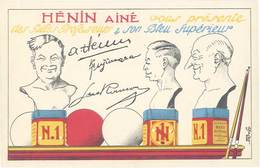 TB Hénin Ainé, Bleu Supérieur ( Billard ) - Werbepostkarten