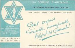 TB La Semeuse D'Auvergne, La Bonne Lentille Du Cantal - Advertising