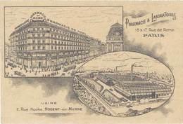 TB Pharmacie De Rome, Pharmacie & Laboratoires, Paris - Werbepostkarten