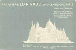 TB Parfumeries Ed. Pinaud, Paris, Pavillon De L'Italie - Werbepostkarten