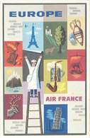 TB Air France , Europe - Werbepostkarten