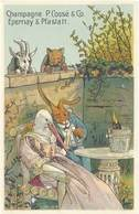 TB Champagne P. Cossé & Co., Epernay & Pfastatt - Werbepostkarten
