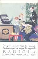 TB Appareils Radiola, Bld Hausmann, Paris, Signée René Vincent - Werbepostkarten