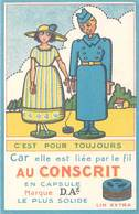 TB Fil Au Conscrit, Marque D.A.é, Lin Extra - Werbepostkarten