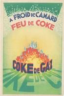 TB Feu De Coke / Coke De Gaz, Signée D'après Roger Pérot - Advertising