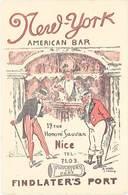 TB New-York, American Bar, Nice – Signée A. Wag - Werbepostkarten