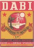 TB Dabi, Apéritif Au Muscat, Caves De La Bridja, Staoueli - Publicidad