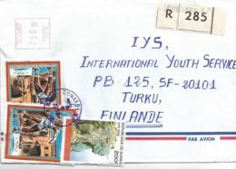 Guinee Guinea 1998 Conakry Disc Olympic Games Barcelona Rocks Meter EMA Registered Cover - Guinea (1958-...)