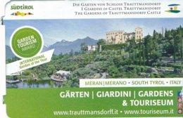 Italien Meran Eintrittskarte 2019 Schloss Trauttmannsdorff Und Gärten - Eintrittskarten