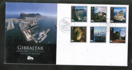 CEPT 2012 GI MI 1484-89 GIBRALTAR FDC - Europa-CEPT