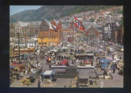 Bergen. *View Of The Flower And The Fish Market* Nueva. - Noruega