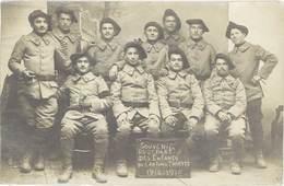 B Militaire – Carte-photo 1914/1915 «Souvenir Du Départ Des Enfants Du Canton De Thueyts» ( Ardèche ) - Agricoltura