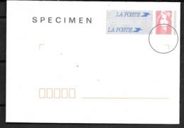 France: SPECIMEN Enveloppe Agrément N° 899 Lot 009/081 (16X11,5) - Specimen