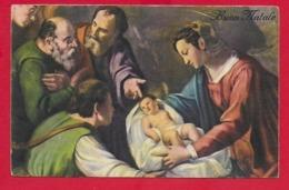 CARTOLINA VG ITALIA - BUON NATALE - Adorazione Del Bambin Gesù - SAEMEC 152 - 9 X 14 - 1953 - Altri