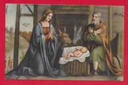 CARTOLINA VG ITALIA - BUON NATALE - Adorazione Del Bambin Gesù - B. LUINI - SAEMEC 152 - 9 X 14 - 1954 - Altri
