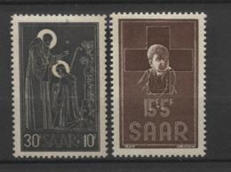 15414 SARRE N°326, 330 *  Au Profit De L'Abbaye Des Bénédictins De Tholey, Au Profit De La Croix-Rouge     1953-54  TB - 1947-56 Ocupación Aliada