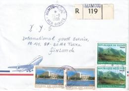 Guinee Guinea 1998 Mamou Hotel Novotel Michel 2111 Nimba Mountains Michel 2212 Registered Cover - Guinea (1958-...)
