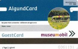 Italien Algund / Südtirol AlgundCard Eisenbahn Museumobil Mecstar - Roma - Bahn