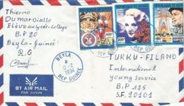Guinee Guinea 1994 Beyla Marlene Dietrich American Football Super Bowl Discovery Americas Expo Cover - Guinea (1958-...)
