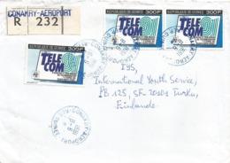 Guinee Guinea 1991 Conakry Telecom Geneva Congress Registered Cover - Guinea (1958-...)