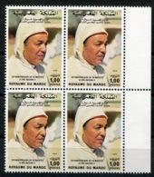 RC 14430 MAROC N° 831 ANNIVERSAIRE DE SA MAJESTÉ LE ROI HASSAN II BLOC DE 4 NEUF ** - Marokko (1956-...)