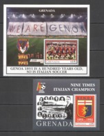 X872 1993 GRENADA SPORT FOOTBALL UEFA FC GENOA 100TH ANNIVERSARY !!! 2BL MNH - Autres