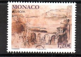 Europa CEPT 2018 Monaco Bridges 1 Stamp MNH - 2018