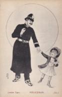 AO33 London Types - Policeman - Artist Signed Postcard - Police - Gendarmerie