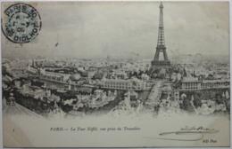 PARIS La Tour Eiffel Vue Prise Du Trocadéro - Tour Eiffel