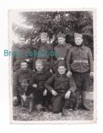 Photo D'un Groupe De Militaires Et Chien, 147 Sur Col, Valdaon, 2 Février 1940, 8,9 X 11,8 Cm. - Guerra, Militari