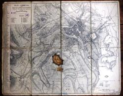 Liege Plan Communal De La Ville De Liége Avanzo 1838 Luttig H394 German Confiscated Map With Stamps - Documentos Históricos