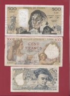 "France 6 Billets Dans L 'état (500 Francs ""Pascal"" Du 02/07/1981.D ---F/TTB+) Lot N °5 - Sin Clasificación"