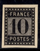France Essai De L'Imprimerie Nationale 10 Cts Noir. TB. A Saisir! - Probedrucke