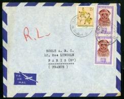 """CONGO BELGE """"BUKAVU-2-D 12/3/57"""" Sur N° 313 + 292 (x2). Sur Enveloppe Par Avion Pour La France. - Belgian Congo"""
