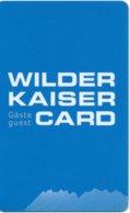 Österreich Wilder Kaiser Card 2013 - Eintrittskarten
