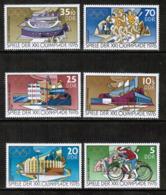 GERMAN DEMOCRATIC REPUBLIC  Scott # 1722-6, B 180-1** VF MINT NH INCLUDING Souvenir Sheet (SS-458) - [6] Democratic Republic
