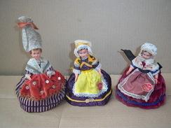 POUPEE DE REGION PETITCOLLIN Et SNF Lot De 3 - Dolls