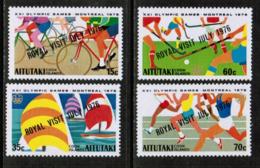 AITUTAKI  Scott # 131-4a** VF MINT NH INCLUDING Souvenir Sheet (SS-459) - Aitutaki