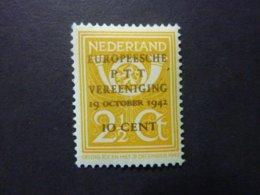 PAYS-BAS, Année 1942, YT N° 392 Neuf MH* - Period 1891-1948 (Wilhelmina)